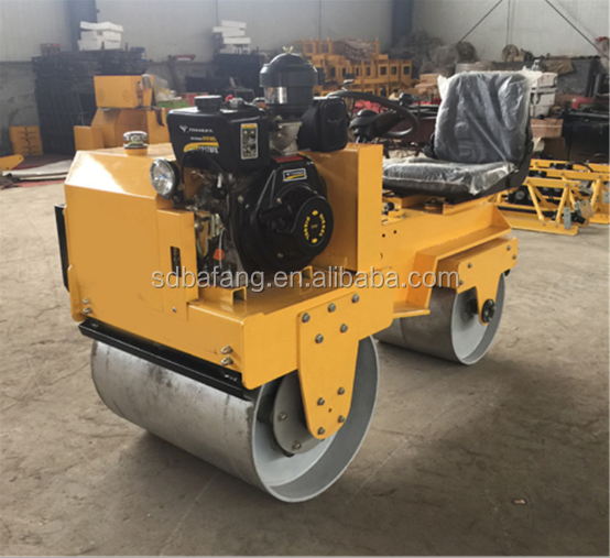Double drum hydraulic small road roller vibratory compactor