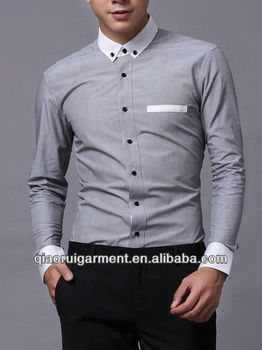 Pictures of formal shirts men Slim fit pinpoint Oxford High quality casual  long sleeve mens shirt 8126edd40