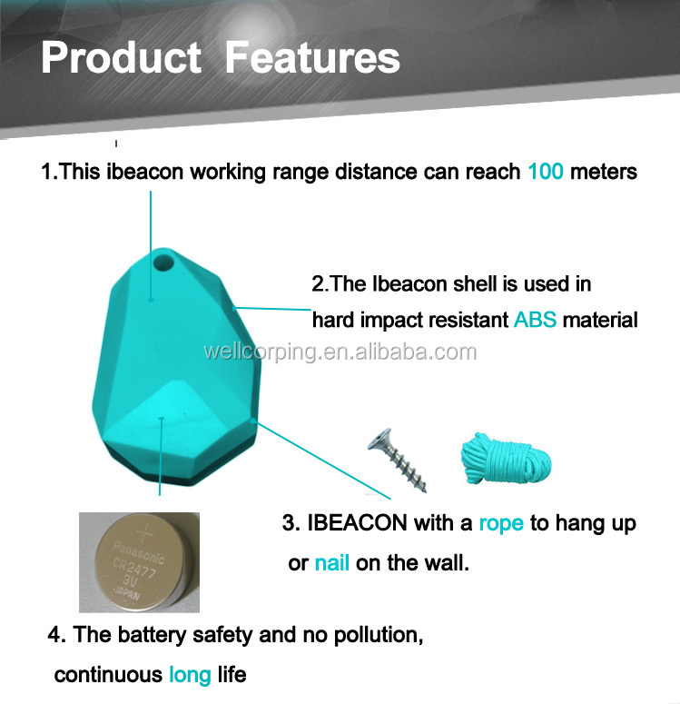Hot Sale Cheap Wholesale Waterproof iBeacons IP67/ ibeacon CC2541 module Bluetooth