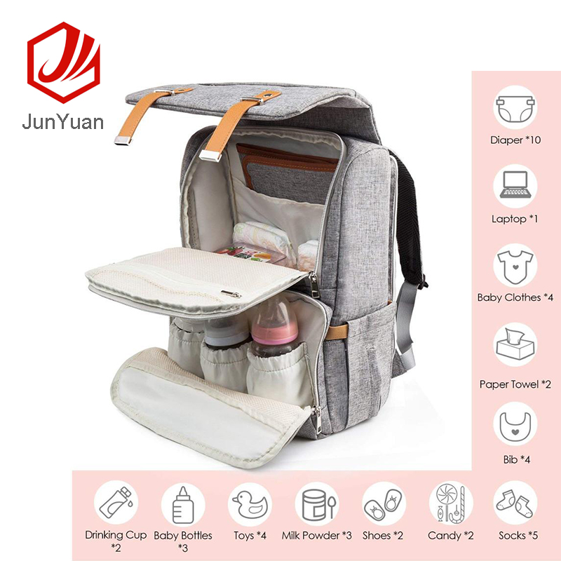 Factory Price Insular Daddy Diaper Backpack  Baby Bag  With Custom Logo