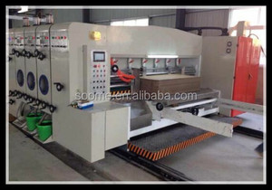 Semi Automatic Factory Price Used Corrugated Carton Flexo Printing Machine With Slotting Die Cutting
