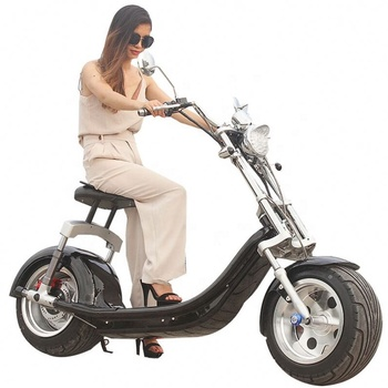 CE Certification And 40-60Km Range Per Charge 2000W Citycoco Electric Chopper Bike Adult 2 Seat Mobility Scooter