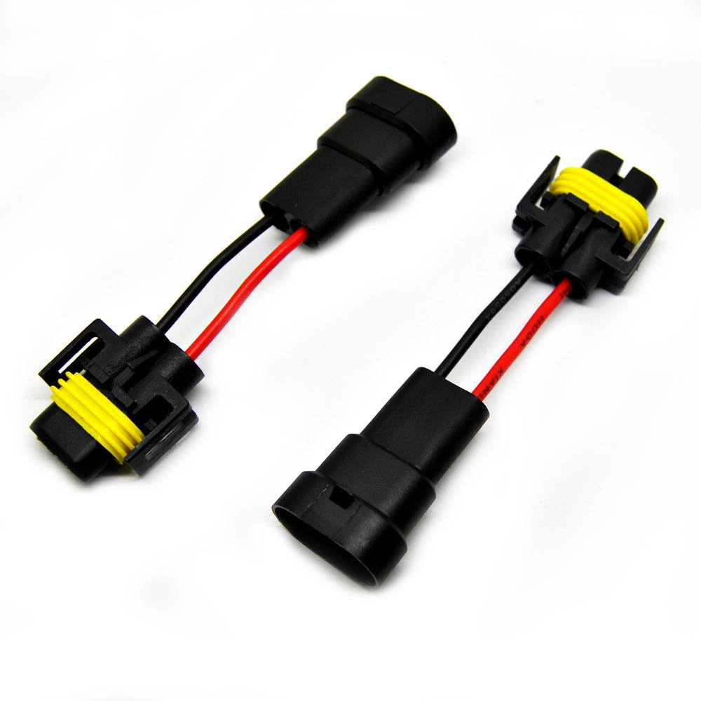 Buy Ijdmtoy 9006 To H11 Headlights Conversion Pigtail Connectors Heavy Duty Headlight Wiring Harness E Ting 2x Fog Connector Plug For Vehicles