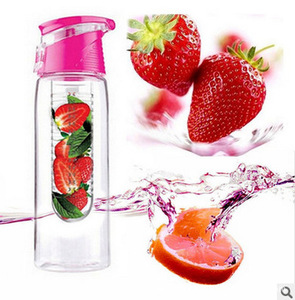 700ml lemon plastic bpa free infusing water bottle with fruit infuser