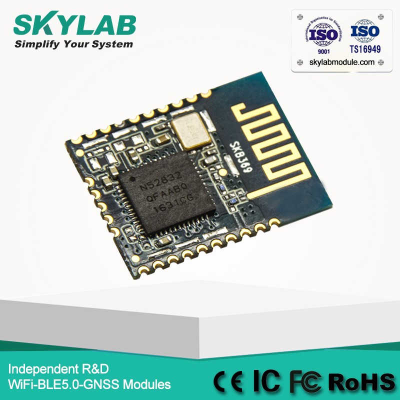 SKYLAB Multiprotocol Bluetooth Low Energy BLE nordic nRF52832 bluetooth module
