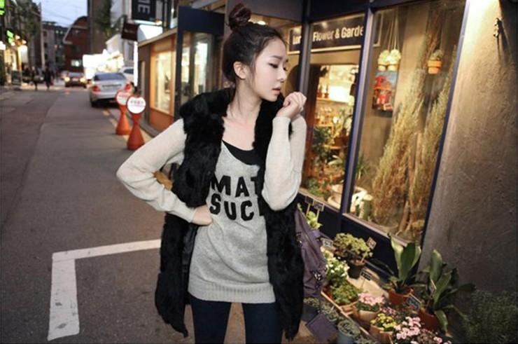 2015 горячая распродажа плюшевые меховой жилет большой ярдов женщин корейской мода популярные жилет с капюшоном осень и зима с капюшоном длинный участок жилет