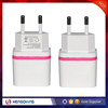 DC5V2.1 EU travel power adapter for mobile phone ,for tablet,pink