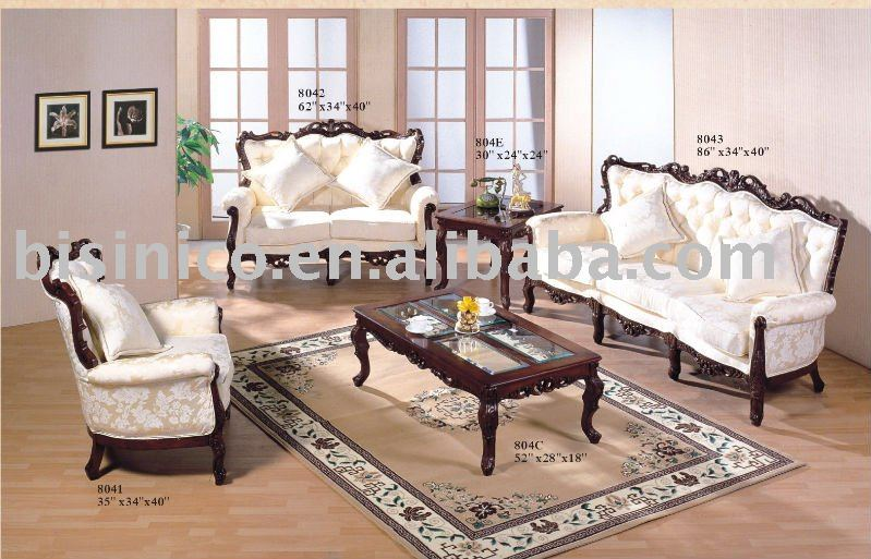 Cl sica americana living room sets sof cama individual for Livings clasicos