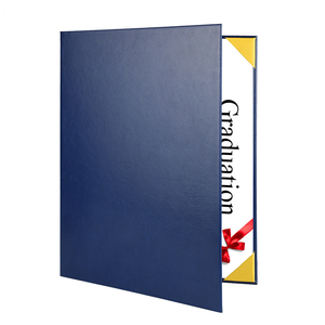 2018 Factory OEM Wholesale High Quality Cheap Leather Diploma Cover File Paper A4 Certificate Holder Folder For Graduation