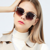 M718 Fashion Cool Unique Future Style Slim Cat Eyes Ocean Colorful Metal Frame Women Rimless Brand Designer Sunglasses