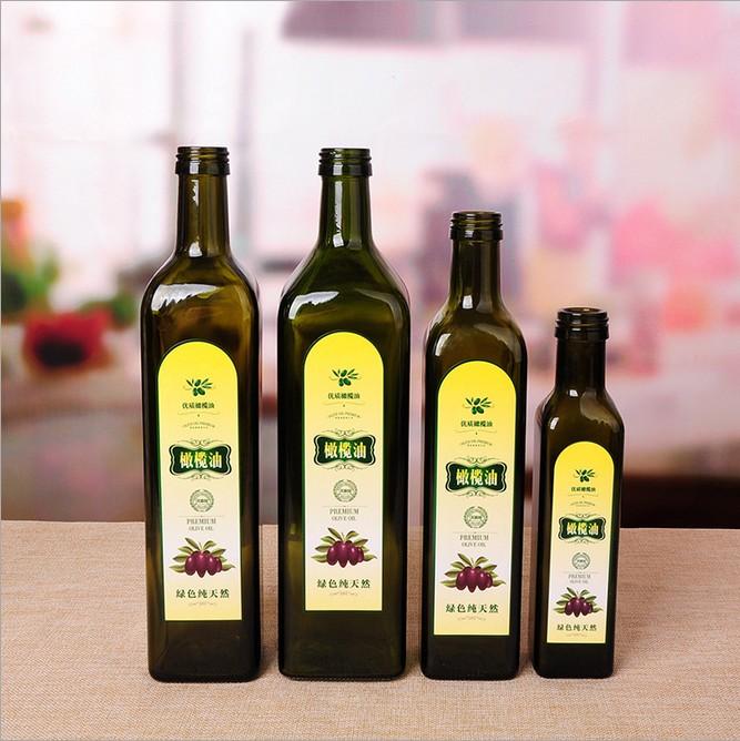 Azeite garrafa de vidro 250 ml 500 ml 750 ml 1000 ml