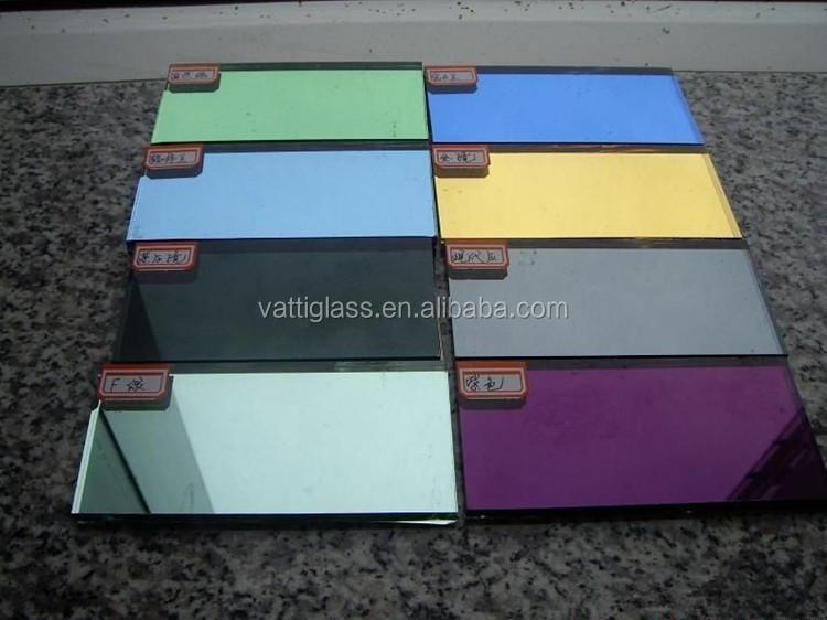 venta caliente hoja grande espejo de cristal gran espejo de cristal sin marco espejo