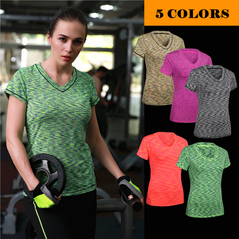 Womens Active Running Athletic Seamless Short Sleeve Tee Shirts