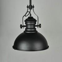 China Supply 1 light black iron industrial pendant light