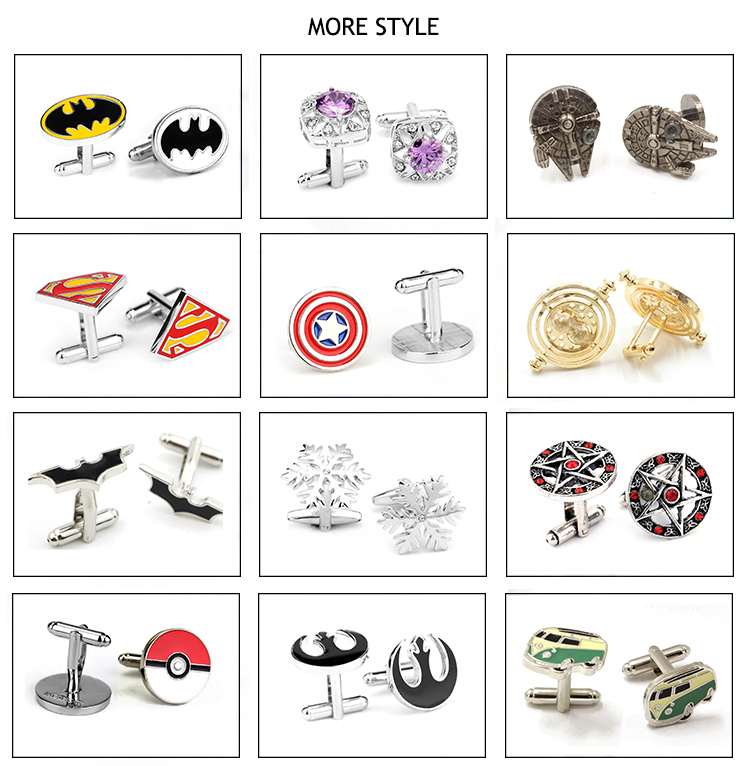 wholesale custom stainless steel men's luxury cufflinks