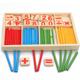 Wooden Math Counting Sticks Kids Preschool Educational Toys