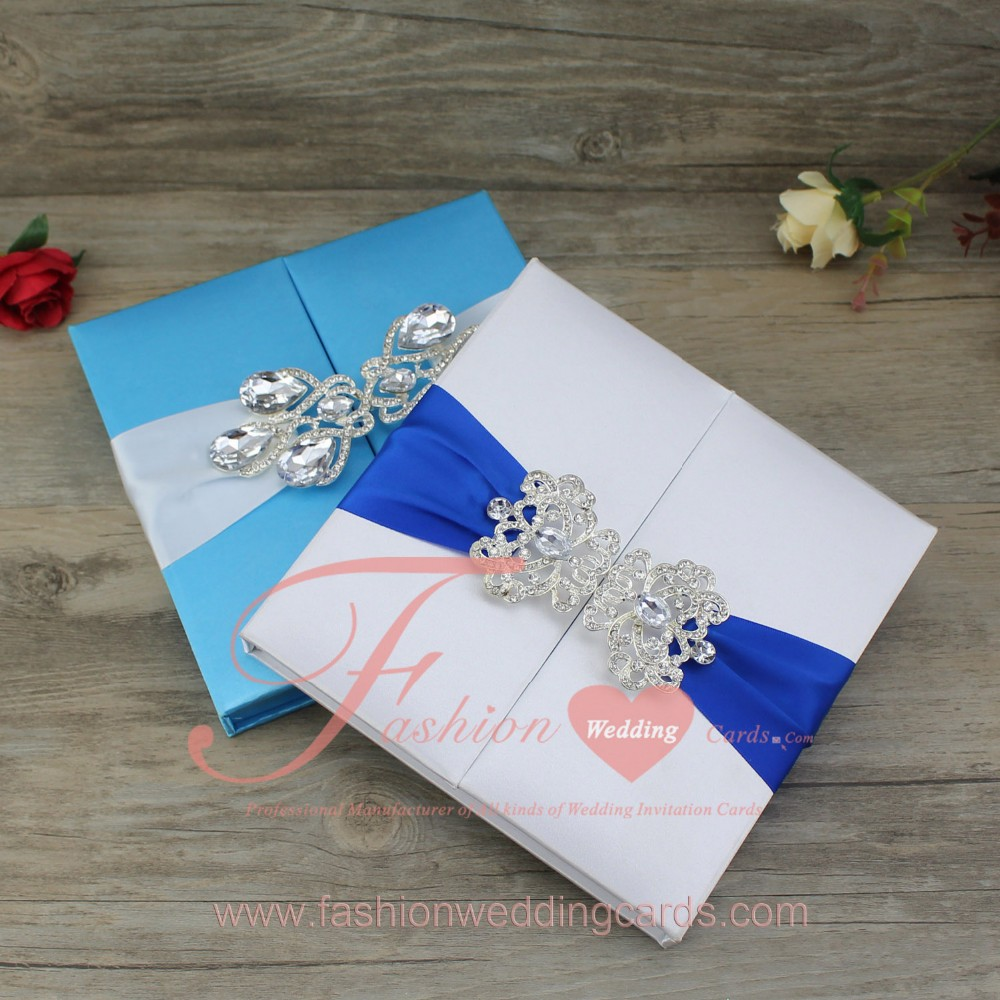 Blue Color Box Type Decorating Silk Material DIY Wedding ...