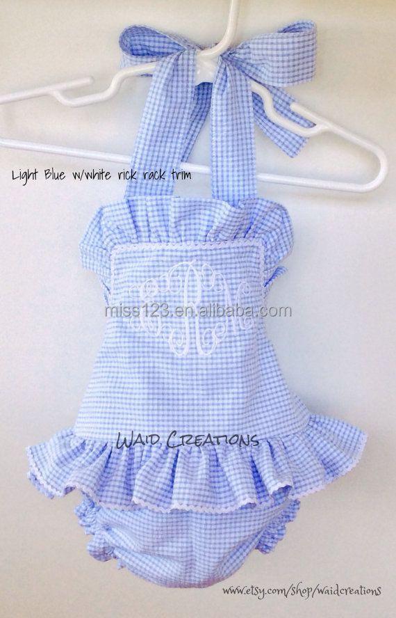 d2d6d37da5 Children 's gingham seersucker dress,gingham clothing for girls,Baby gingham
