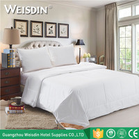 China supplier wholesale white down-like queen size hotel thick summer quilt
