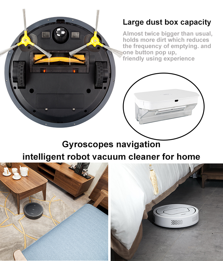 ODM custom portable washing floor Gyroscope Navigation Smart robot vacuum cleaner with APP control