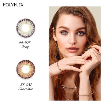 Polyflex new design factory price yearly use contact lens wholesale eye contact lenses for eye
