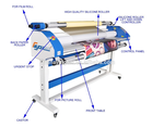 Chinese supplier auto large format hot/cold laminator 1600mm with pneumatics and cutter
