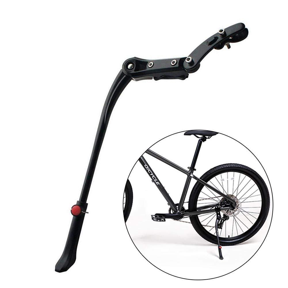 Egal Mountain Bike Aluminum Adjustable Alloy Kickstand Bicycle Parking Stand Bike Kickstand Bike Support Bike Leg Stands white