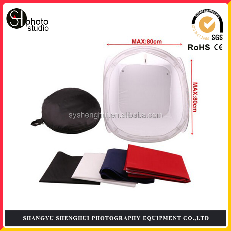 Small goods photography 80cm Softbox Light Tent with four Backdrops