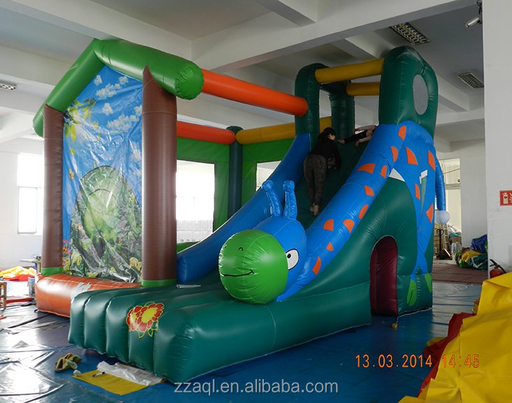 Aoqile toy game equipment high quality cheap best giant inflatable water slide for kids