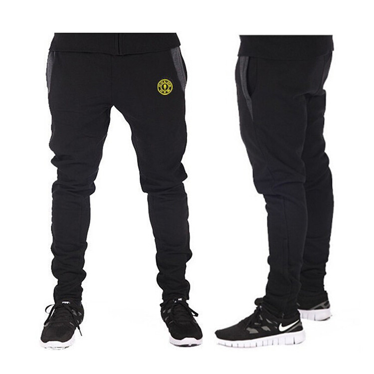 f9f1debb4 Get Quotations · 2015 New mens joggers Style Fashion GymShark Casual Skinny Sweatpants  Sport Pants 100% cotton Gym