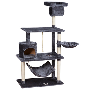 China factory customized design plush wooden pet condo tower supplier furniture toys cat scratcher tree house