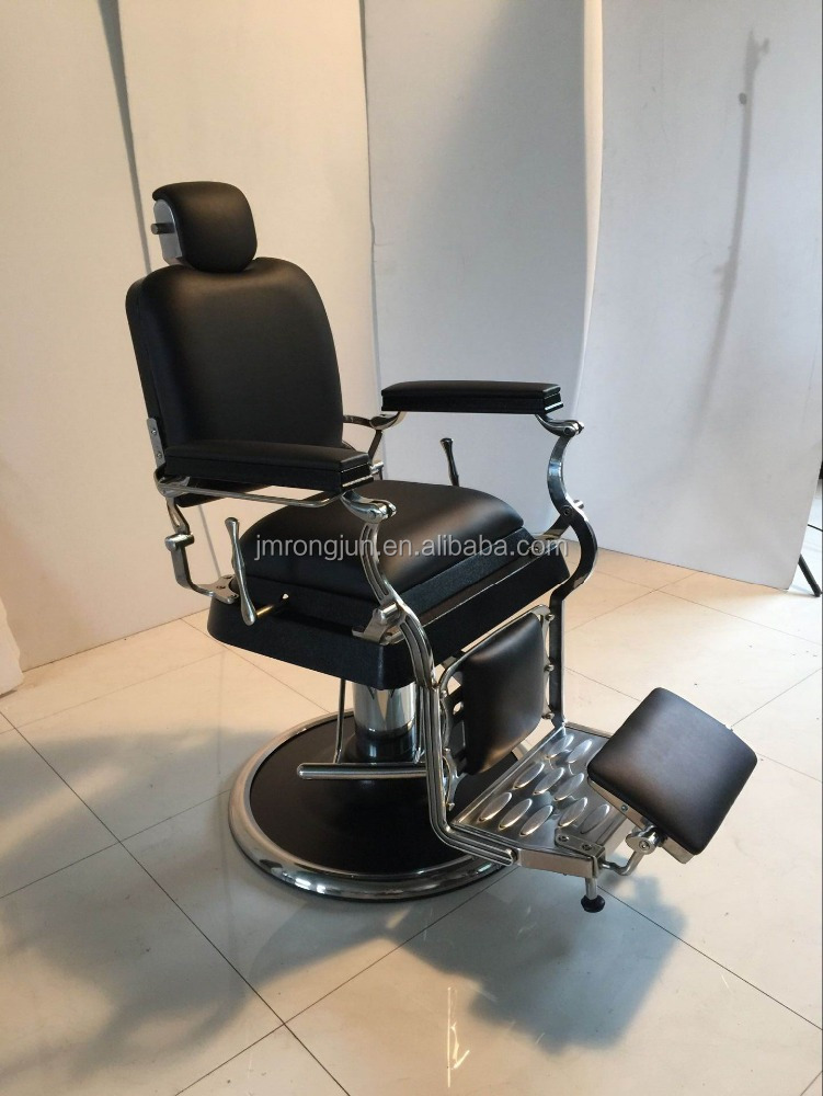 Aluminium salon Retro hairdressing units and antique incline barber chair