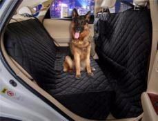 China Wholesale/OEM waterproof dog blankets black oxford pet car seat cover 147*137cm