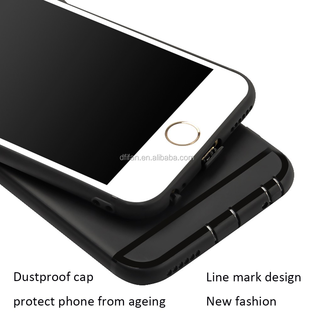 DFIFAN Black matte phonecases for apple iphone 6 6s , charming hole design soft case for iphone 6 plus