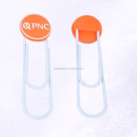Wholesale cheap custom 3D logo silicone pvc bookmark for books