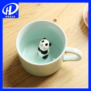 3D Small Panda Ceramic Cartoon Animals Coffee Milk Cup Mug Heat-resistant Nice Gift