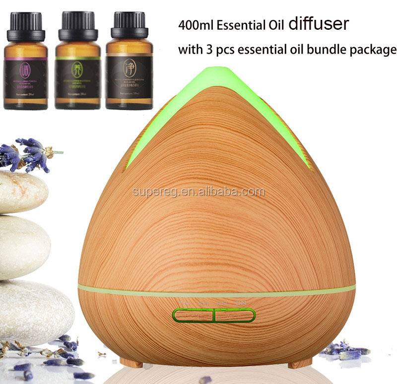 New Essential Oil Diffusers With 3 Pure Essential Oil Sets Bundle Package, Air Ultrasonic Humidifier Aroma Diffuser