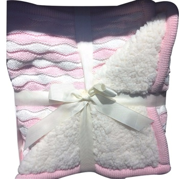 Free Sample Double Layer Braids Knitted Baby Blanket With Sherpa,Braided Fleece Blanket,Printing Blankets