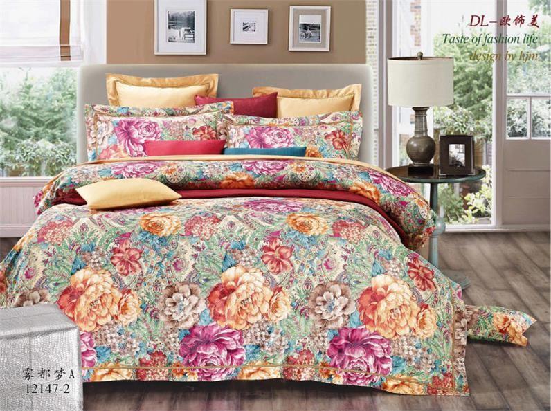 Bordado 3d de cama 100 algod n cubierta de cama de lujo europeo seda jacquard edred n establece - Edredon de seda ...