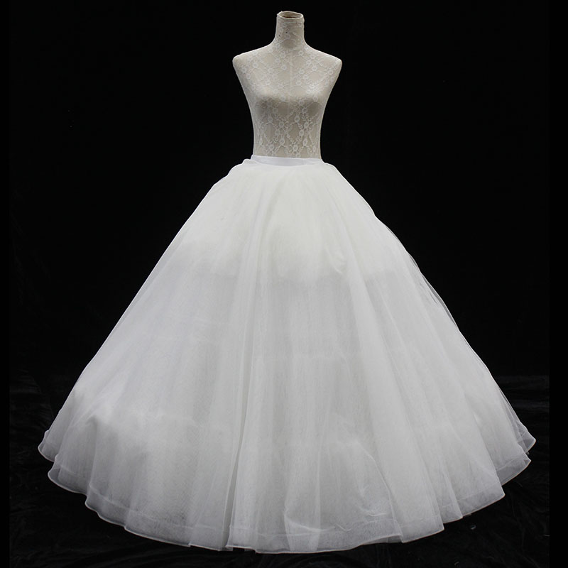 P6202A Hot Sale Bouffant Bridal Petticoat Crinoline with Three Hoops
