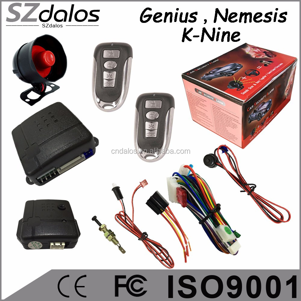 Professional factory of manual one way car alarm system car alarm security