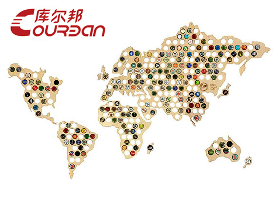 China Supplier Wholesale Art Minds Laser Cut Wooden World Map Wall
