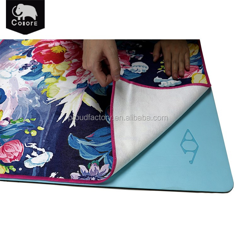 Factory directly sell printed microfiber yoga towel with excellent quality material