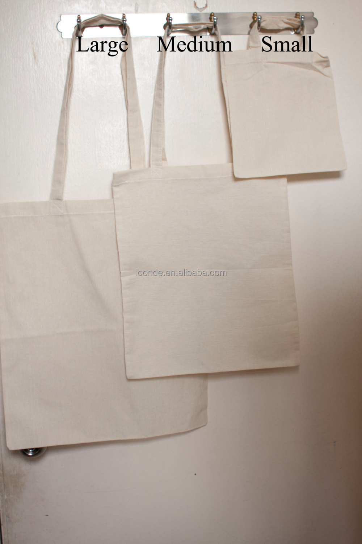 Small Custom 8oz Cotton Blank Plain Canvas Tote Bag Plain - Buy ...