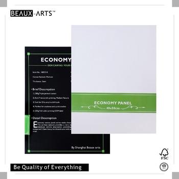 40x50cm 280g economy artist canvas panels board prefect for quick