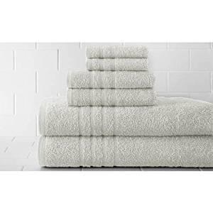 Pacific Coast Textiles Spa Collection Luxurious Egyptian Cotton 6PC Towel Set, White