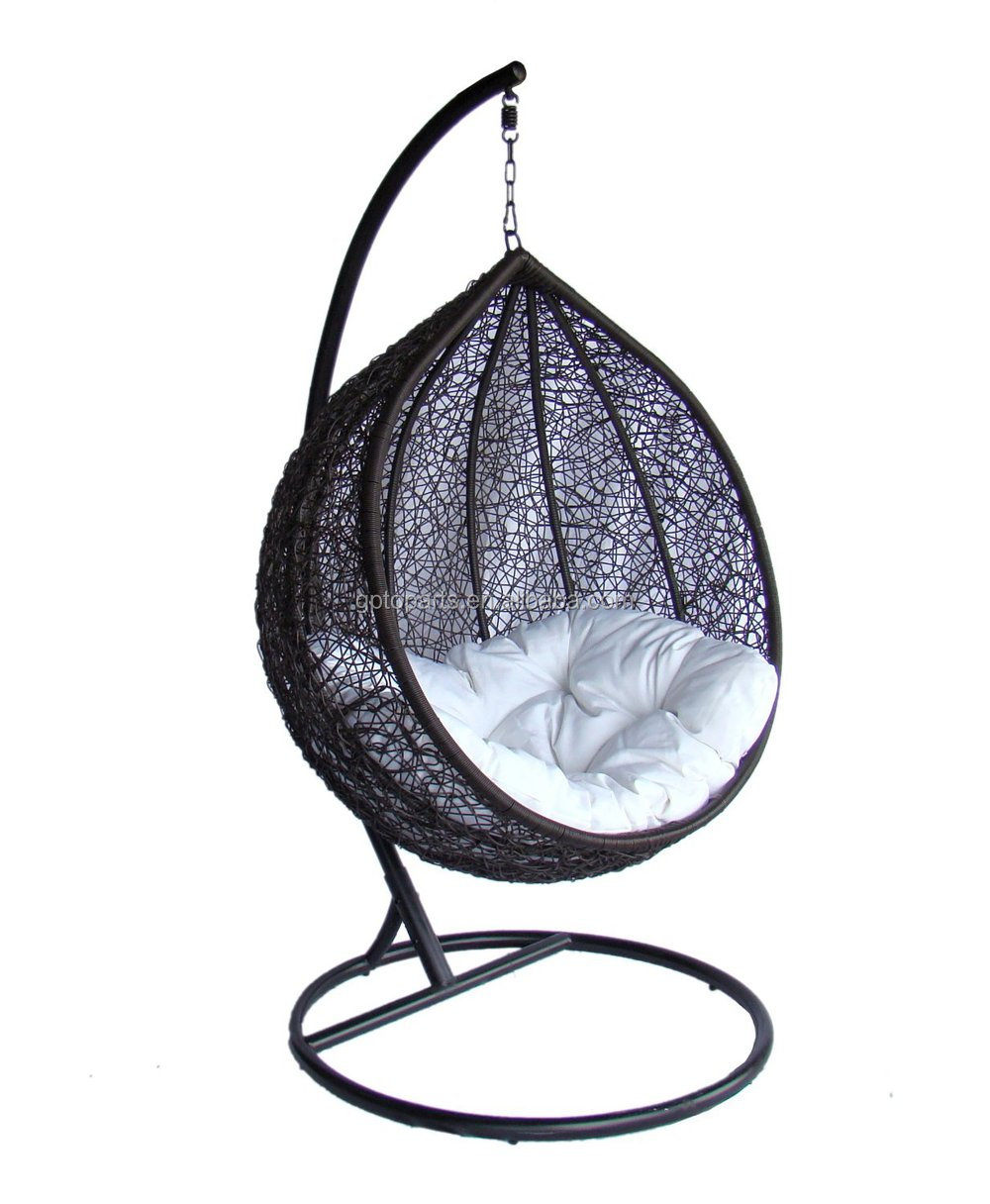 Lexmod Cocoon Wicker Rattan Outdoor Wicker Patio Swing