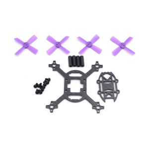 QA067 90mm 90 Carbon Fiber Frame Kit Mini Light For Indoor Interior RC FPV Cross Racing Drone Quadcopter With 1935 Propeller