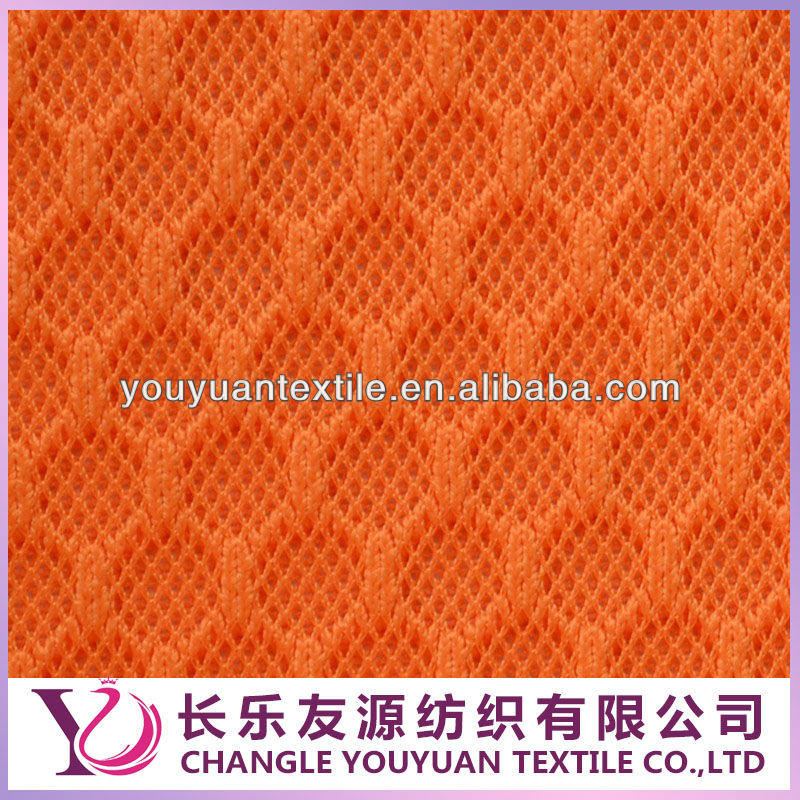 Super Orange 100% Polyester Sandwish / 3D Mesh Fabric for Bags