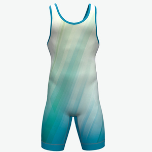2018 new design 100% polyester dry style wrestling singlets